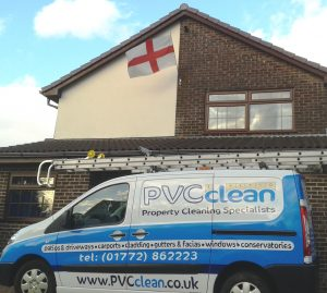 St George flag n pvc clean van
