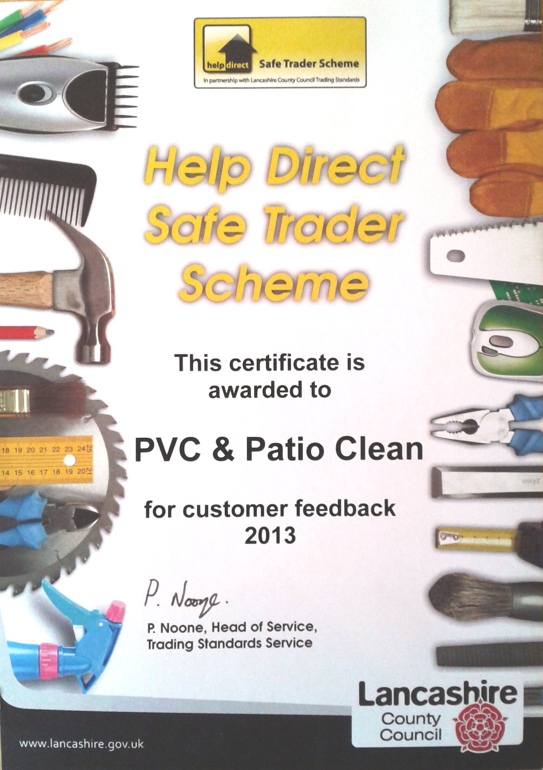 safe trader of year certificate